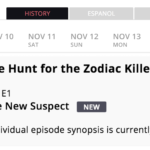 The Hunt for the Zodiac Killer - First episode